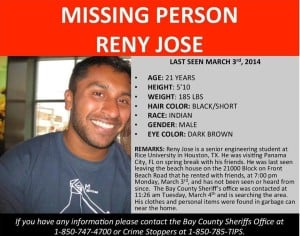 Reny Jose missing flyer